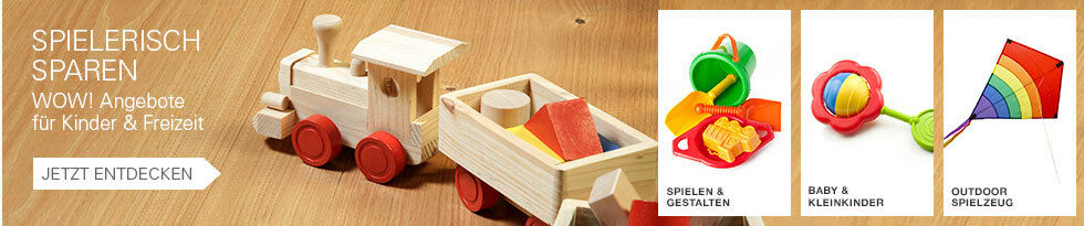 Spielerisch sparen - WOW! Angebote für Kinder & Freizeit