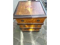 Vintage Spanish coat of arms chest
