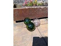 Antique glass fishing buoys £10 each