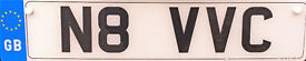 Private Registration Plate for sale N8 VVC