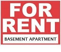 Shared Basement apartment for rent in maple