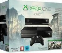 Xbox One 500GB Assassin's Creed Unity Bundle+Kinect brand new