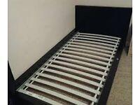 Ikea Malm Black/Brown Single Bed