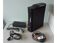 BLACK XBOX360 CONSOLE 120GB MEMORY / COEMES WITH EXTRAS / FOR SALE OR SWAPS