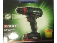 parkside 20v drill brand new