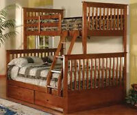 MATTRESS PLAZA-SINGLE /DOUBLE WOODEN BUNK BED SALE !!!