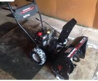 wanted  snowblower