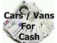 CARS VANS CARAVANS 4x4s WANTED FOR CASH