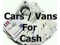CARS VANS CARAVANS WANTED FOR CASH