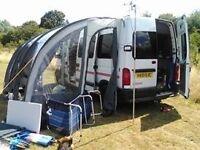 RENAULT master campervan full awning . Motd
