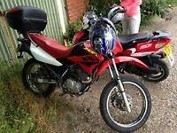 Honda XR 125cc motorbike moped learner