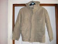 Boys coat with fleece lining and hood