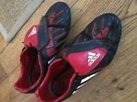 Adidas black and red football boots