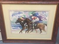 Framed Horse Racing Picture