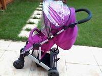 pink mama papas pushchair