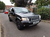 beautiful jeep grand cherokee 03 plate 4.0 petrol lpg 88k miles!!! NEED IT GONE ASAP