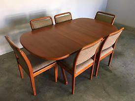 ~ Extendable Wooden Dining Table PLUS 6 Chairs ~ East Brisbane Brisbane South East Preview