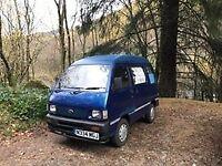 Blue Daihatsu Hijet micro camper