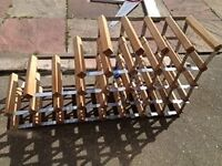 wooden wine rack good condition only £5.00