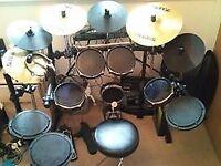 Alesis DM5 Pro Electronic Drum Kit w/ Surge Cymbals w/ Mapex 500 Series Double Drum Pedal