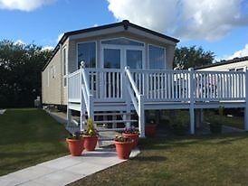 Stunning 2014 6 berth Atlas Status Static Caravan with PVC decking, patio area, double glazing etc