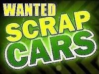 WANTED SCRAP CARS, VANS, 4x4s MOTOR BIKES .Instant Payment