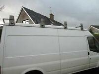 Faxtory made galvanised david murphy roofrack for l.w.b ford transit