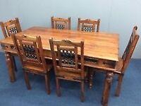 Jali Sheesham Dinning table + 6 chairs