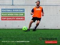 Play football any day in Nottingham! Any ability, all welcome.