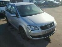 VW TOURAN, CADDY 2006-2011 BREAKING SPARES AIRBAG LEATHER SEATS ALLOY DOORS AXLE HUBS CORNERS