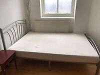 2x small double mattresses / bed frame