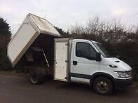 Iveco daily 05 reg 3.5 ton tipper / tree surgeon / export / same as transit