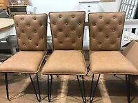 PU Leather Tan Chairs