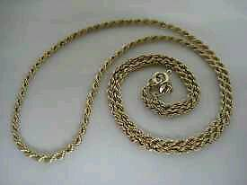 9CT GOLD ROPE CHAIN £55 free post