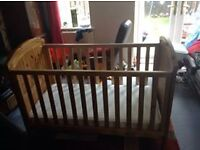 Mothercare cot bed and Mothercare Mattress