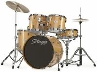 Stagg drum kit natural wood