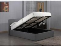New 5ft grey fabric storage bed free delivery