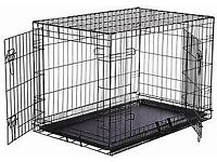Dog Crate, double door, approx 77 x 108 x 72cm suitable for Lab Size