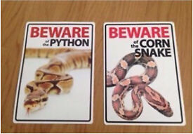 2 Snake Signs £5
