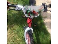 Disney Lightning McQueen Childrens bike with stabilisers