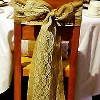 Vintage Hessian and Lace Chair Sashes