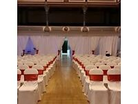event decor business for sale chair covers ,candelabras, vases,flowers,draps,lighting