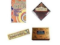 Bumper Games: Playing Cards, Tiddlywinks, Labyrinth & Metal Puzzles **new sealed**