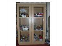 Medium oak glass cabinet