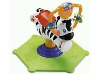 Brand new fisher price bounce and spin zebra