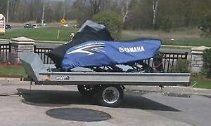 Double Bed Snowmobile Trailer