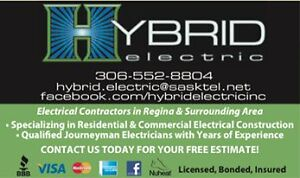 HYBRID ELECTRIC - Your Full Service Electricians Moose Jaw Regina Area image 1
