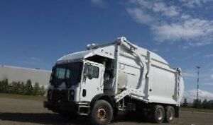 2010 MACK AND TWO 2009 AUTOCAR FRONTLOAD GARBAGE TRUCKS