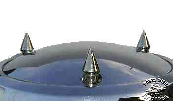 3 SPIKE BOLTS for DERBY COVERS for HARLEY (fits all 3 hole derby covers)