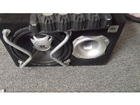 JBL GT SERIES SUB WOOFER AND 800W KENWOOD AMP